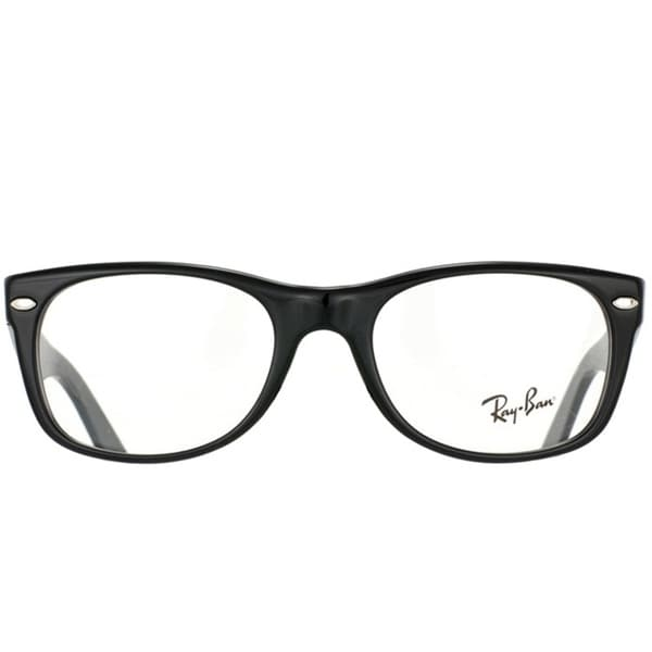 24d0edf4b409 Shop Ray-Ban RX 5184 'New Wayfarer' 50-mm 2000 Black Eyeglasses - Free  Shipping Today - Overstock - 6585315