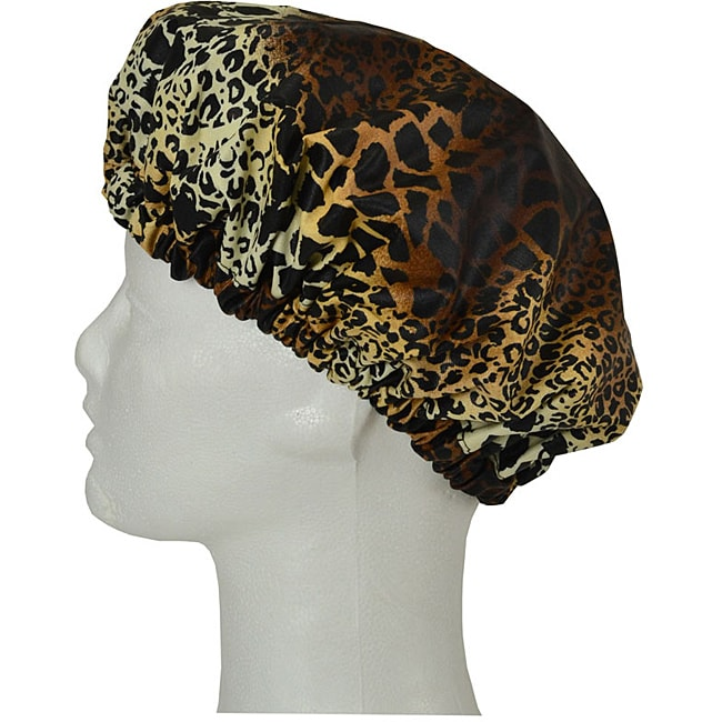 Tango Leopard Travel Shower Cap