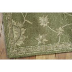 Nourison Hand-tufted Superlative Green Rug (2'3 x 8')