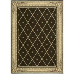 Nourison Ashton House Brown Wool Rug (9'6 x 13') - Thumbnail 0
