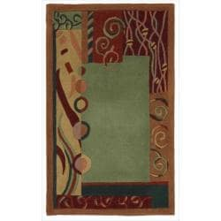 """Nourison Hand-Tufted Dimensions Green Indoor Rug (1'9"""" x 2'9"""")"""