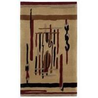 Nourison Hand-tufted Dimensions Beige Rug (1'9 x 2'9) - 1'9 x 2'9