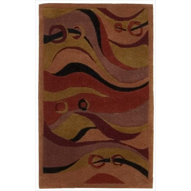 Nourison Hand Tufted Dimensions Rust Rug 1 X27
