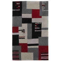 Nourison Hand-tufted Dimensions Grey Rug (1'9 x 2'9)