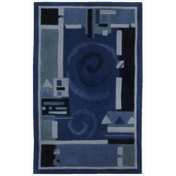 Nourison Hand-tufted Dimensions Blue Rug (1'9 x 2'9)