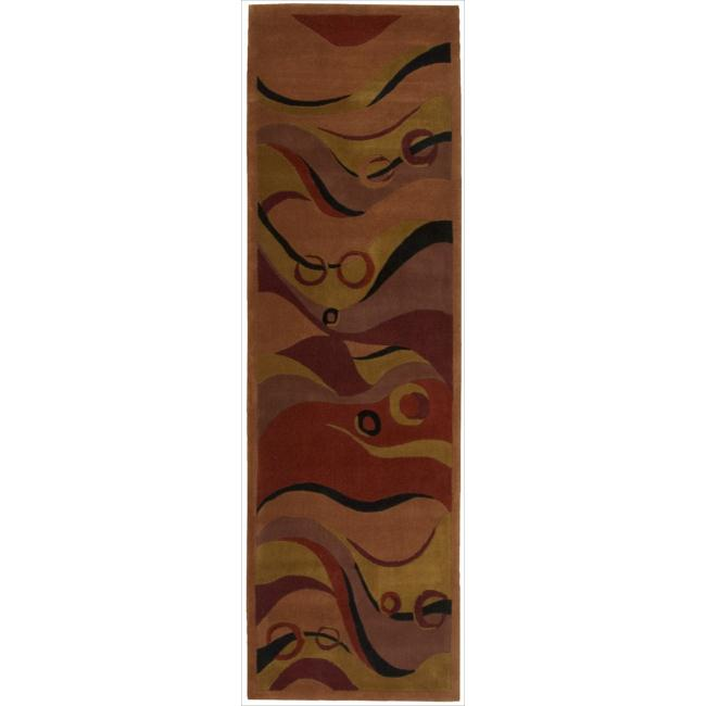 Nourison Hand-tufted Dimensions Rust Rug (2'3 x 8')