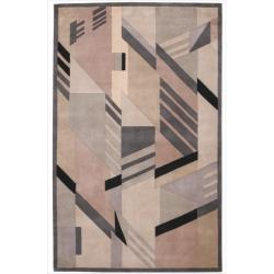 Casual Nourison Hand-Tufted Dimensions Grey Rug (3'6 x 5'6)