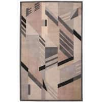 Casual Nourison Hand-Tufted Dimensions Grey Rug (3'6 x 5'6) - 3'6 x 5'6