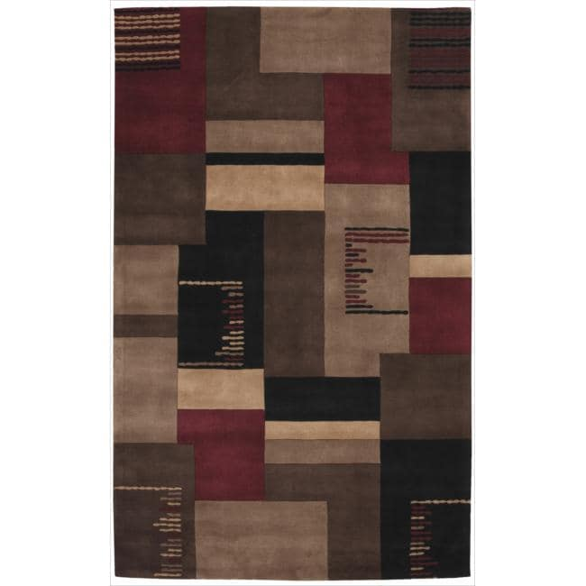 Nourison Hand-tufted Dimensions Taupe Rug - 5' x 8'