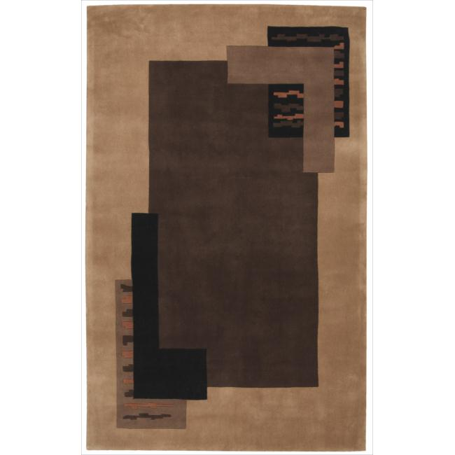 Nourison Hand-tufted Dimensions Light Brown Rug (5' x 8')