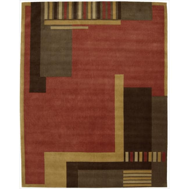 Nourison Hand Tufted Dimensions Rust Rug 8 X27