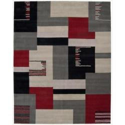 Nourison Hand Tufted Wool Dimensions Grey Area Rug ( 8' x 11' )