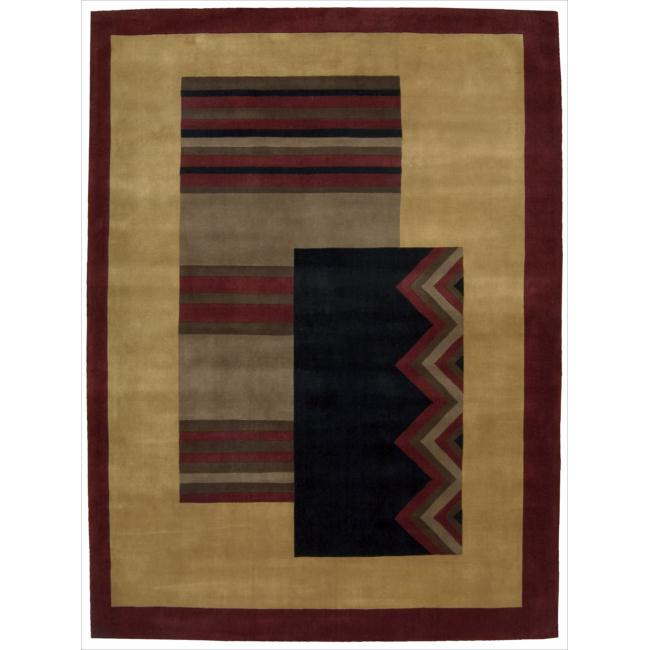 Nourison Hand Tufted Dimensions Gold Rug (8' x 11')