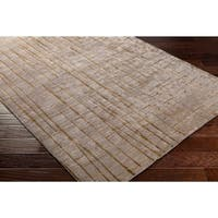 Hand-knotted Beige Veleka Abstract Design Wool Area Rug - 2'6 x 10'