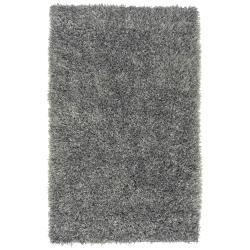 Hand-woven Gray Bartine Soft Plush Shag Rug (5' x 8')