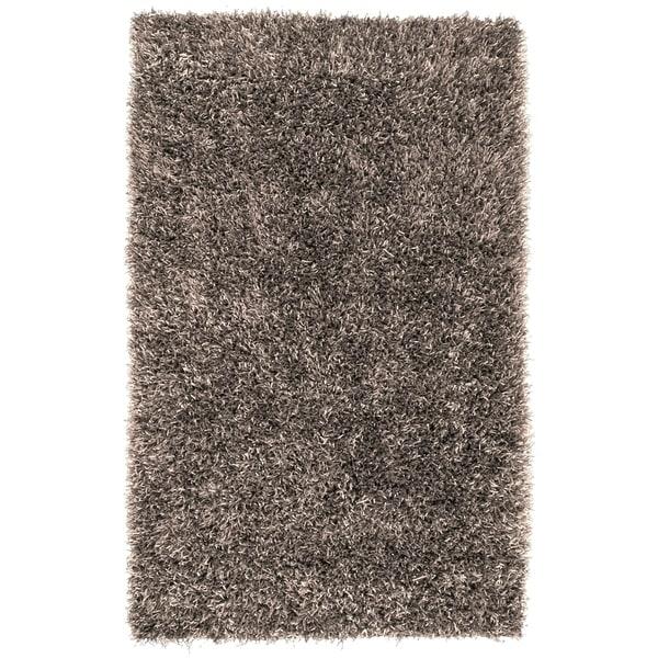 Hand-woven Gray Bartine Soft Plush Shag Area Rug - 5' x 8'