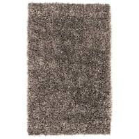Hand-woven Gray Bartine Soft Plush Shag Area Rug - 5' x 8'