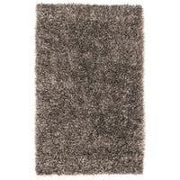 Hand-woven Gray Bartine Soft Plush Shag Area Rug - 8' x 10'6""