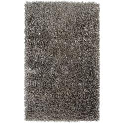 Hand-woven Silver Cayster Soft Plush Shag Rug (8' x 10'6)