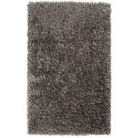 """Hand-woven Silver Cayster Soft Plush Shag Area Rug - 8' x 10'6"""""""