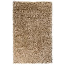 Hand-woven Tan Payas Soft Plush Shag Rug (8' x 10'6)