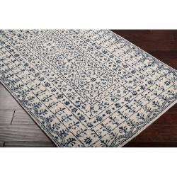 Hand-tufted Ivory Giresun Oriental Pattern WoolRug (5' x 8') - Thumbnail 1