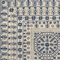 Hand-tufted Ivory Giresun Oriental Pattern WoolRug (5' x 8') - Thumbnail 2