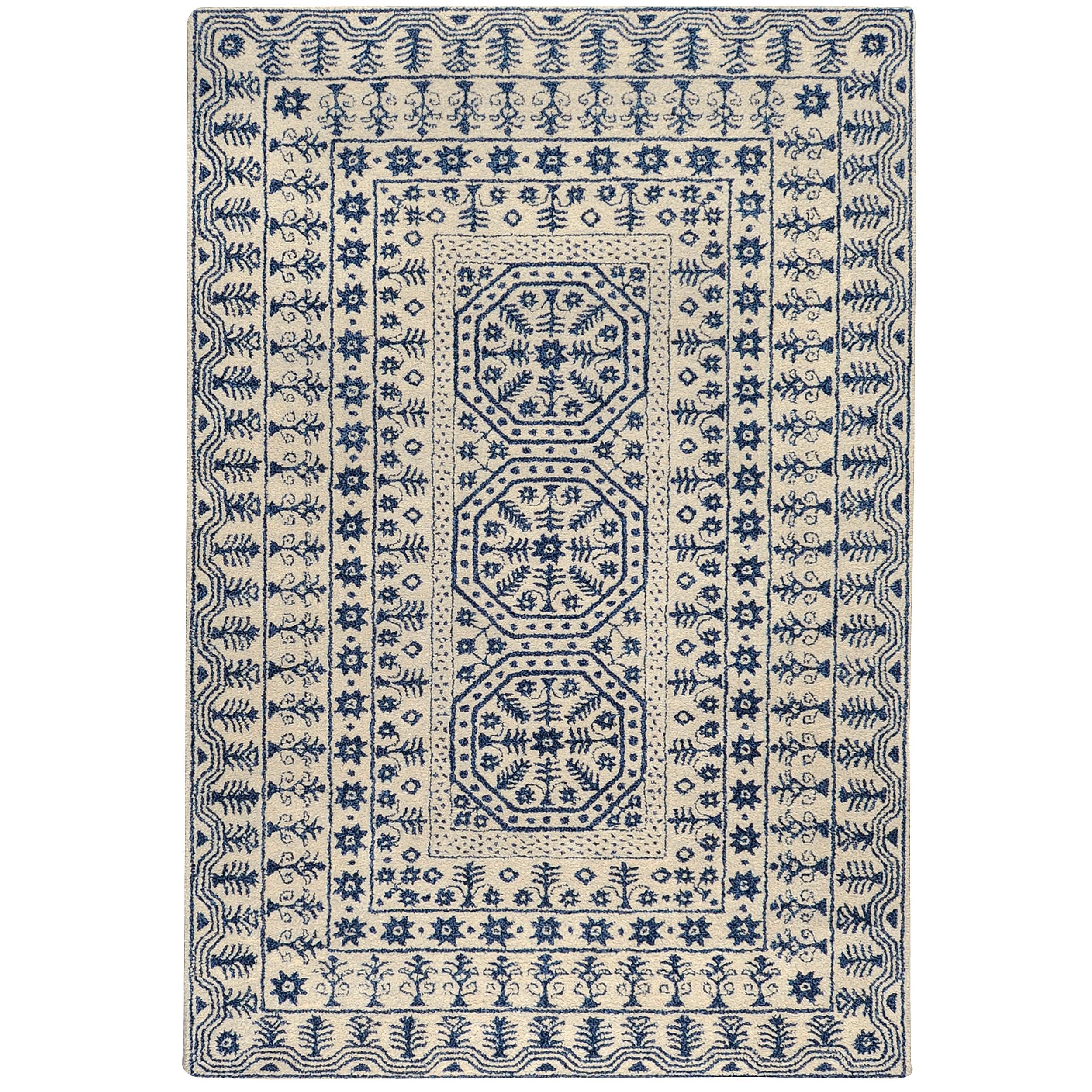 Hand-tufted Ivory Giresun Oriental Pattern WoolRug (3'3 x 5'3)