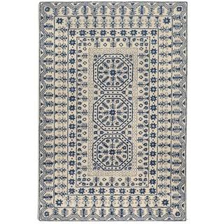 Hand-tufted Ivory Giresun Oriental Pattern WoolRug (3'3 x 5'3) - Thumbnail 0