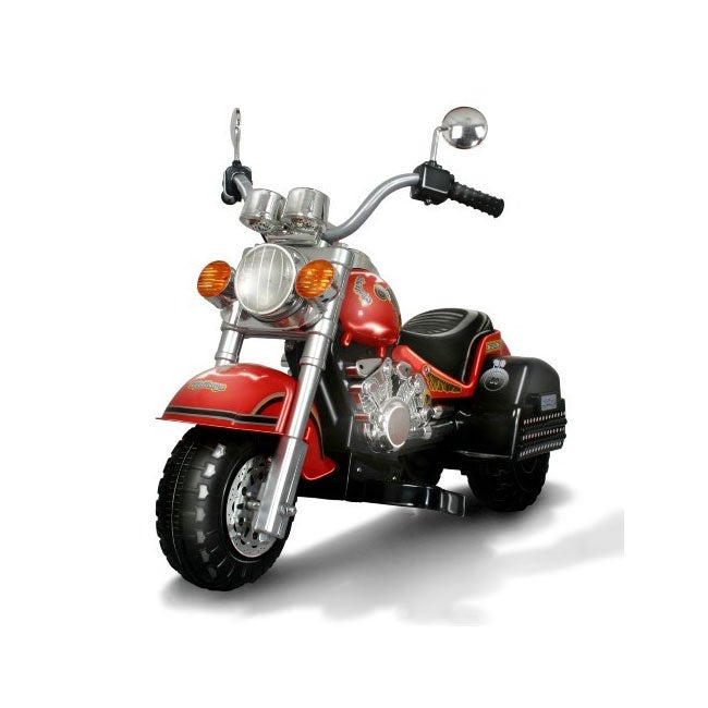 Merske Harley-style Battery Operated Red Chopper Motorcyc...