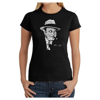 Link to Los Angeles Pop Art Women's Al Capone Cotton T-Shirt Similar Items in Tops