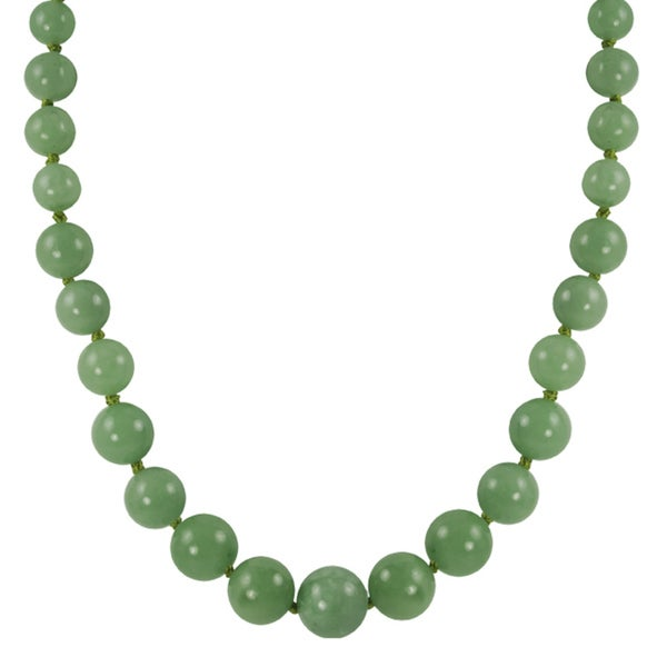 Gems For You Graduated Jade Bead Necklace