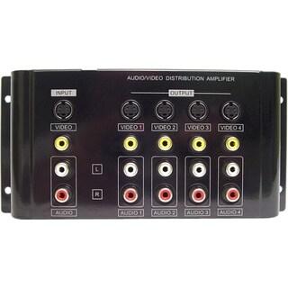 Calrad Electronics 1X4 Composite/S-Video/Analog Audio Distribution Am