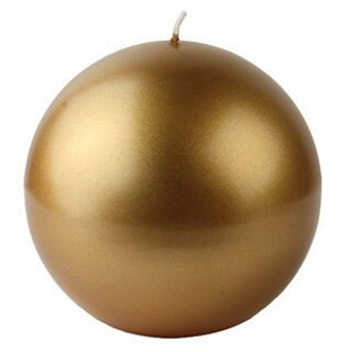Metallic 4-inch Ball Candles (Case of 12)