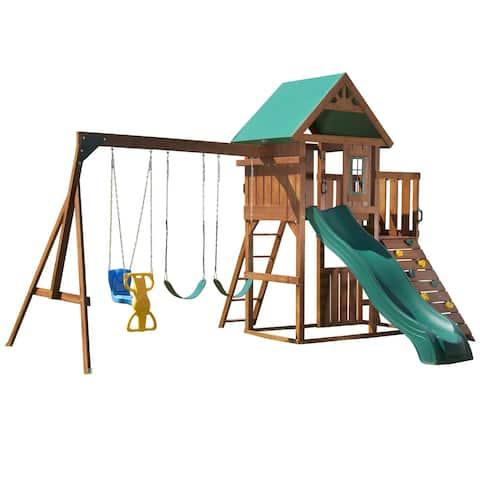 Swing-N-Slide Willows Peak Wood Complete Swing Set