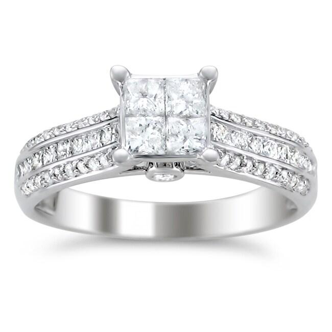 Montebello 14k White Gold 1ct TDW Diamond Composite Engagement Ring (H-I, I1-I2)