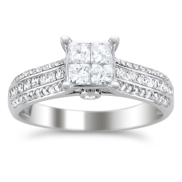Montebello 14k White Gold 1ct TDW Diamond Composite Engagement Ring (H-I, I1-I2)