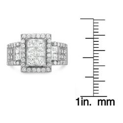 Montebello 14k White Gold 2ct TDW Diamond Composite Engagement Ring (H-I, I1-I2)