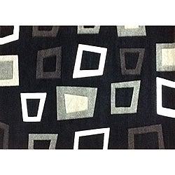 Modern Deco Black Trapezio Rug - 7'9 x 10'5 - Thumbnail 0