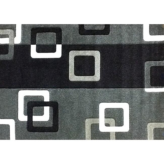 Modern Deco Fume Geometric Rug - 3'9 x 5'1