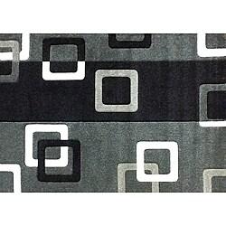 Modern Deco Fume Geometric Rug (3'9 x 5'1)