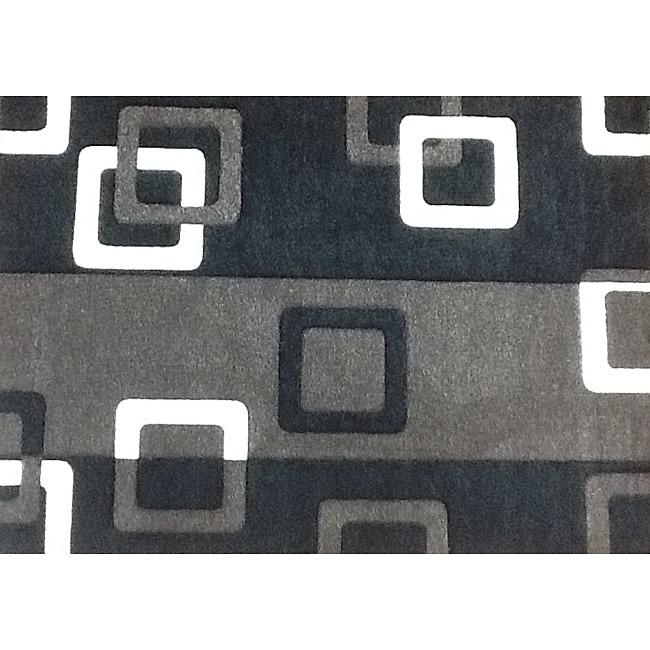 Modern Deco Grey Geometric Rug 5 39 2 X 7 39 2 Free Shipping