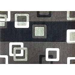 Modern Deco Chocolate Geometric Rug (3'9 x 5'1)