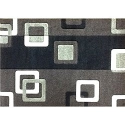 Modern Deco Chocolate Geometric Rug (5'2 x 7'2)
