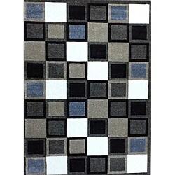 Modern Deco Fume Squares Rug (5'2 x 7'2)