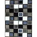 Modern Deco Champagne Squares Rug - 3'9 x 5'1