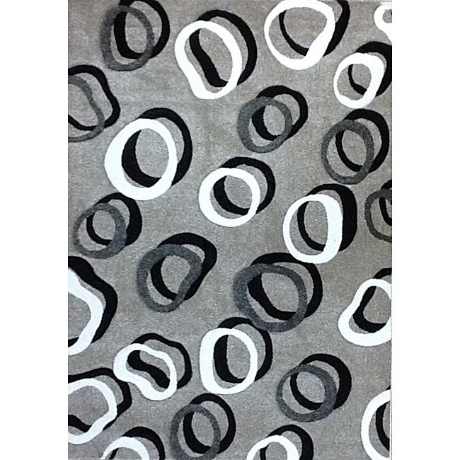 Modern Deco Gray Contempo Rug (3'9 x 5'1)