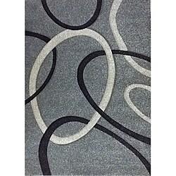 Modern Deco Fume Circles Rug (7'9 x 10'5) - 7'9 x 10'5