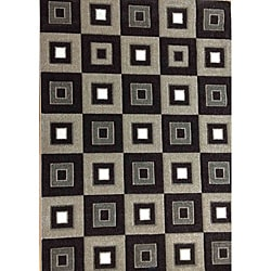 Modern Deco Chocolate Blocks Rug (5'2 x 7'2)
