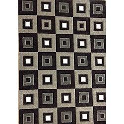 Modern Deco Chocolate Blocks Rug (7'9 x 10'5)